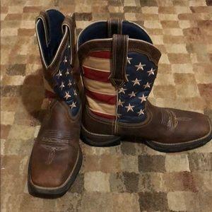 Durango Lady Rebel Patriotic Western Flag Boot